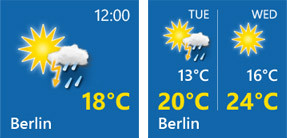 WeatherPro for Windows - Live Tiles